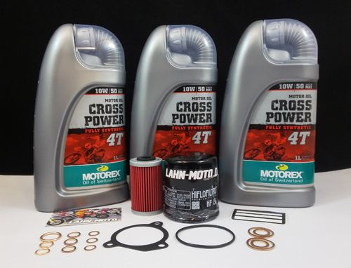 KTM LC4 400-660 Service Kit Motorex CROSS POWER 10W50
