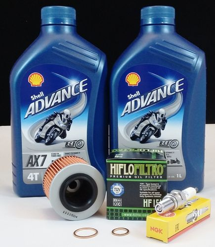 MZ 125 RT /SX /SM Service Kit Shell AX7 +NGK